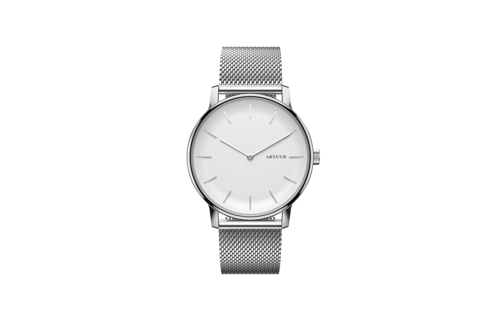 Case - Silver White + Marks - Mesh Silver